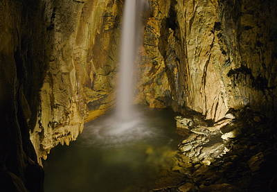 Photograph - Cave Waterfall, Italy by Francesco Tomasinelli