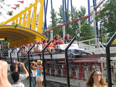 Drag Photograph - Cedar Point - Top Thrill Dragster - 12121 by DC Photographer
