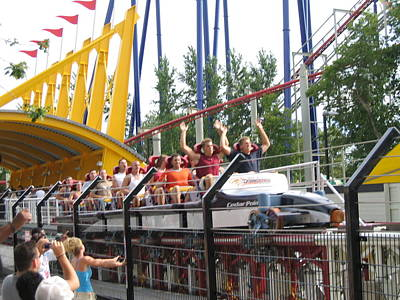 Top Photograph - Cedar Point - Top Thrill Dragster - 12122 by DC Photographer