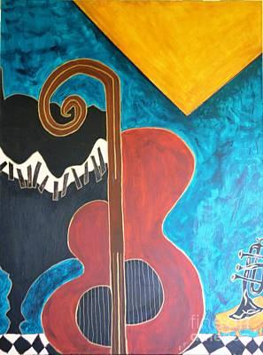 Cello I Original by Shirley Barone