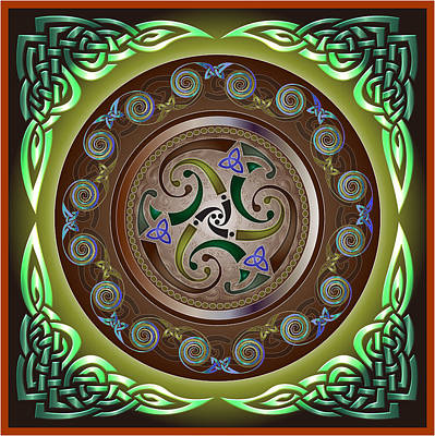 Celtic Pattern Art Print by Ireland Calling