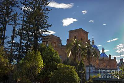 Immaculate Photograph - Central Cuenca Ecuador by Al Bourassa