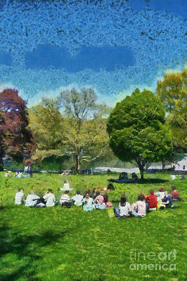 People Painting - Central Park In New York by George Atsametakis