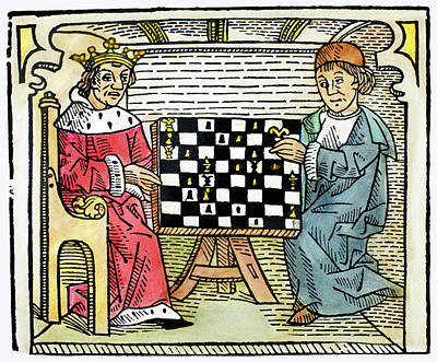 Chess Men Painting - Cessolis Chess, C1483 by Granger