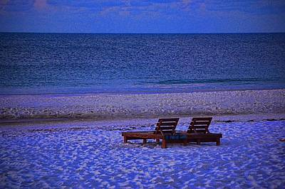 Photograph - 2 Chairs On A Blue Morning  by Michael Thomas