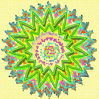 Painting - Sparkle Signature Art Chakra Round Mandala By Navinjoshi At Fineartamerica.com Rare Fineart Images  by Navin Joshi