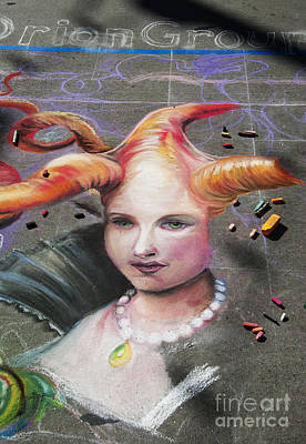 Photograph - Chalk Art.  Street Painting by Juli Scalzi
