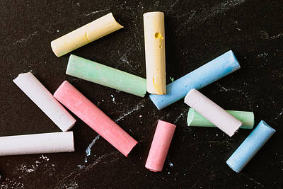 Elementary Photograph - Chalk Pieces by Tom Gowanlock