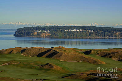 Washington Driftwood Beach Fog Wall Art - Photograph - Chambers Bay Golf Course - University Place - Washington by Yefim Bam
