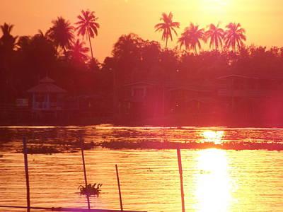 Chao Phraya Sunset Art Print by Ian Scholan