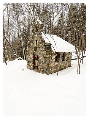 Chapel In The Woods Stowe Vermont Art Print by Edward Fielding