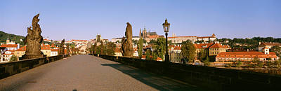 Statuary Photograph - Charles Bridge, Prague, Czech Republic by Panoramic Images