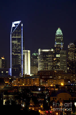 Charlotte Photograph - Charlotte Skyline At Night by Jill Lang