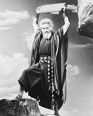 Charlton Heston In The Ten Commandments Print by Silver Screen