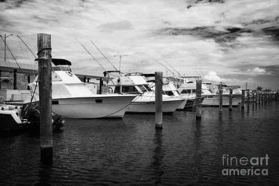 Charter Fishing Boats Charter Boat Row City Marina Key West Florida Usa Art Print by Joe Fox