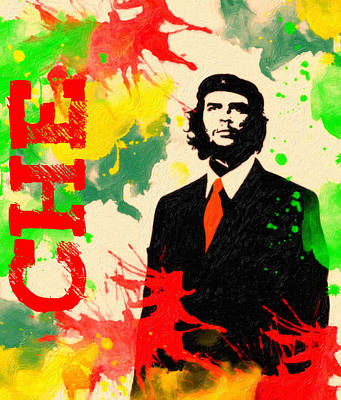 Freedom Struggle Painting - Che Guevara by Celestial Images