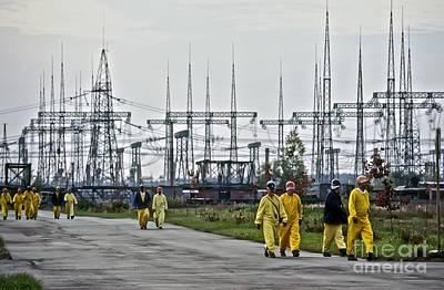 Chernobyl Disaster Shelter Maintenance Art Print by Patrick Landmann