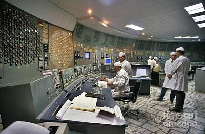 Number 3 Photograph - Chernobyl Reactor 3 Control Room by Patrick Landmann