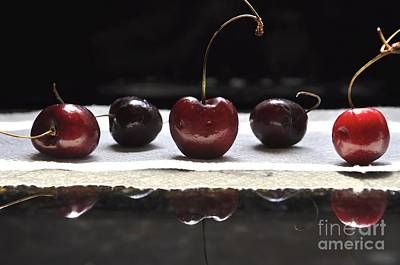 Photograph - Cherries by Kathy Flood