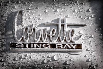 Photograph - Chevrolet Corvette Sting Ray Emblem by Jill Reger
