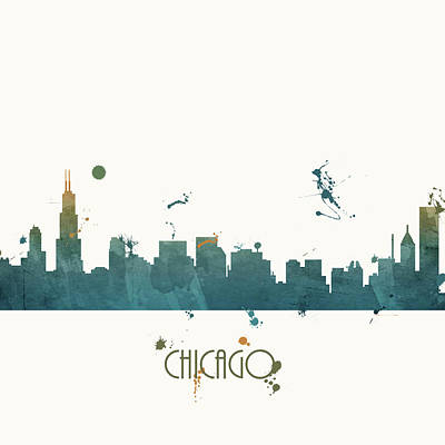 Sears Tower Painting - Chicago by Anna Quach