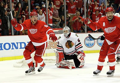 Photograph - Chicago Blackhawks V Detroit Red Wings by Gregory Shamus