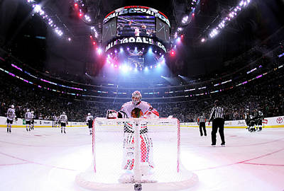 Nhl Photograph - Chicago Blackhawks V Los Angeles Kings by Jeff Gross