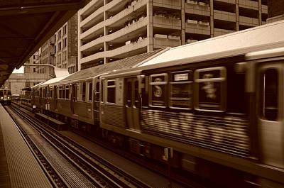 Art Print featuring the photograph Chicago Cta by Miguel Winterpacht