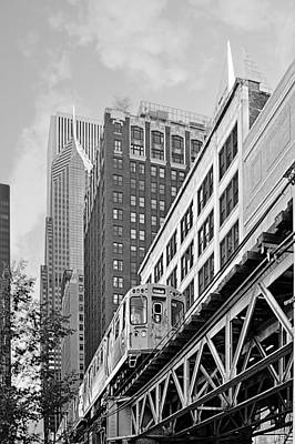 Midwest Photograph - Chicago Loop 'l' by Christine Till