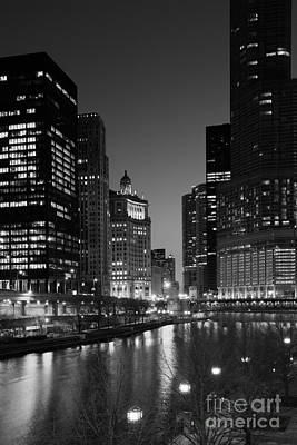 Photograph - Chicago River Reflections by Timothy Johnson