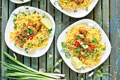 Poultry Photograph - Chicken Noodles by Tom Gowanlock