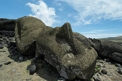 Rock Altar Photograph - Chile, Easter Island Aka Rapa Nui by Cindy Miller Hopkins