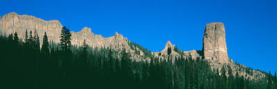 Chimney Peak In Uncompahgre National Art Print by Panoramic Images