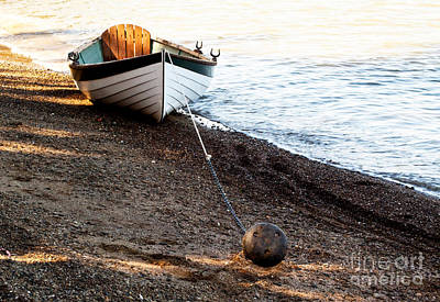 China Beach Rowboat Art Print
