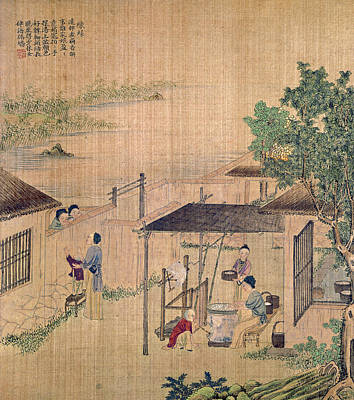 Painting - China Silk Production by Granger
