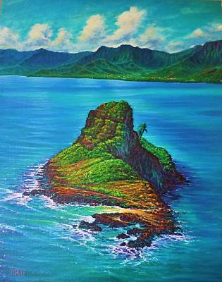 Painting - Chinaman's Hat - Aerial by Joseph   Ruff