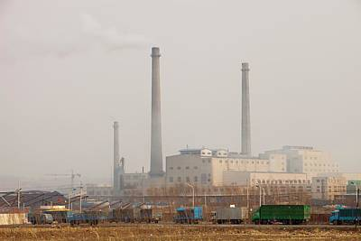 Chinese Coal Fired Power Station Art Print by Ashley Cooper
