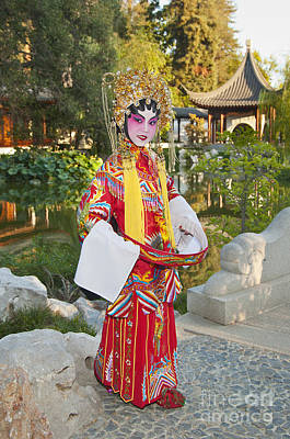 Chinese Opera Girl - In Full Traditional Chinese Opera Costumes. Art Print by Jamie Pham