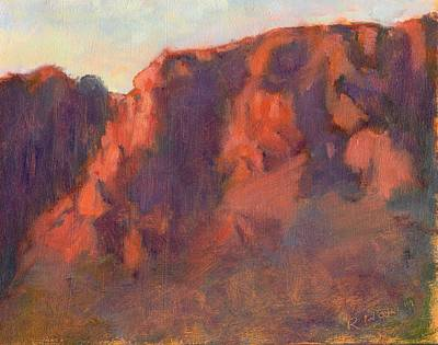 Painting - Chisos Mountains by Rosemarie Hakim