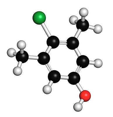 Molecule Photograph - Chloroxylenol Antiseptic Molecule by Molekuul