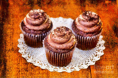 Word Signs - Chocolate caramel cupcakes by Les Palenik