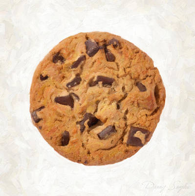 Chocolate Chip Cookie  Art Print by Danny Smythe
