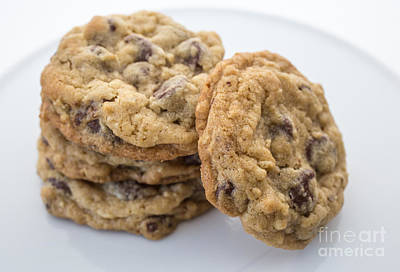 Oatmeal Photograph - Chocolate Chip Cookies by Edward Fielding