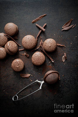 Photograph - Chocolate Macaroons by Kati Finell