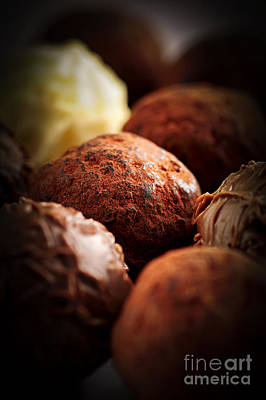Sweetness Photograph - Chocolate Truffles by Elena Elisseeva