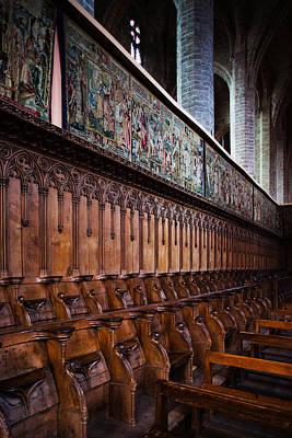 Choir Stalls At Abbatiale Saint-robert Art Print