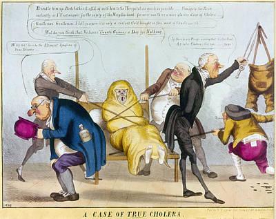 Chamber Pot Painting - Cholera Epidemic, 1832 by Granger