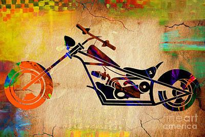 Chopper Art Art Print by Marvin Blaine