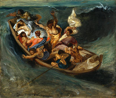 Christ On The Sea Of Galilee Painting - Christ On The Sea Of Galilee by Eugene Delacroix