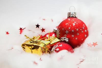 Snow Photograph - Christmas Balls Decoration by Michal Bednarek